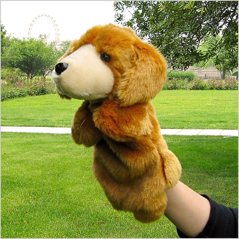 25CM Large puppet toy puppy animal means even pupp...