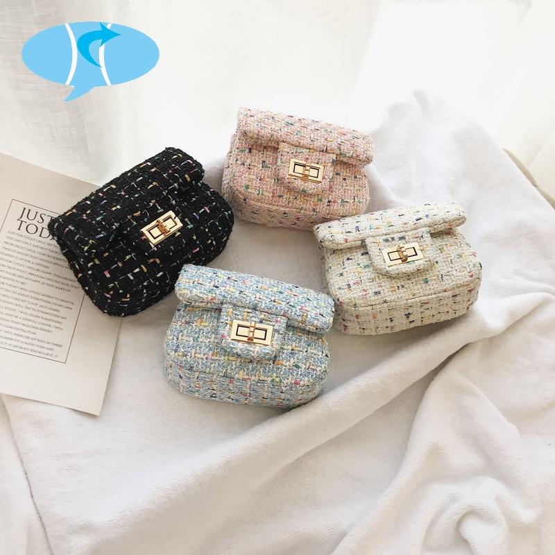 Ausdrucksvoll Bekasnoew Mode Kinder Handtaschen Candy Mädchen Tartan Messenger Taschen Flap Schulter Taschen Crossbody-taschen