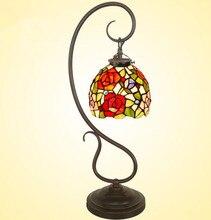 10 дюймов рабочего небольшой настольные лампы теплая исследование светильник спальни стекла лампы, Yslc-27, Бесплатная доставка