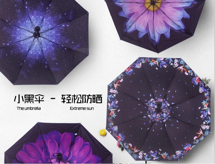 Для женщин зонтик pongee наружное Цветочный принт солнечный и дождливый Зонты Для женщин дождь гуарда-chuva обратный Ретро Солнечный дождь зонтик