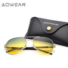 AOWEAR, день, ночное видение, солнцезащитные очки, мужские, поляризационные, желтые, водительские очки для дневного и ночного вождения, солнцезащитные очки для женщин