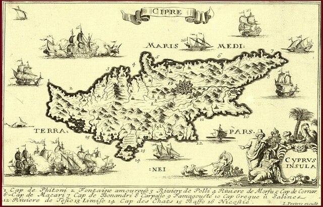 Cipre Maris Medl Terra Pars Map Classic Vintage Retro Kraft - Pars map
