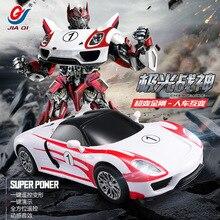 2016 новые модели гоночных автомобилей Jiaqi tt672 деформации робот трансформации Дистанционное управление RC автомобиль Игрушечные лошадки для Для детей подарок