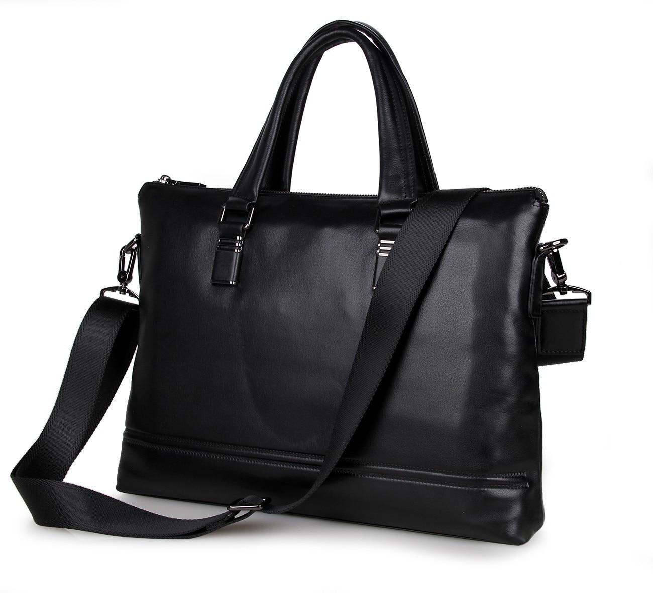 2016 new Genuine leather business bag Men's Slim Briefcase  Laptop high-grade casual men handbags shoulder bags crossbody bag