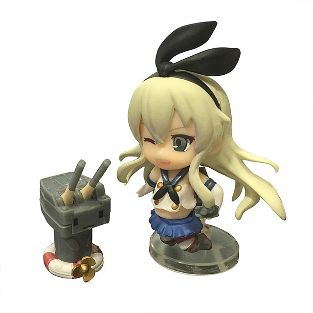 Q version Kantai Collection Anime Action Figure PVC Collection Model toys for christmas gift Free shipping