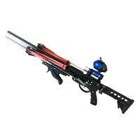 Полуавтоматическая Рогатка для охоты, рыбалки, мощная катапульта, фиксирующая катушка, многофункциональный стальной шар, стрелы, непрерывн...