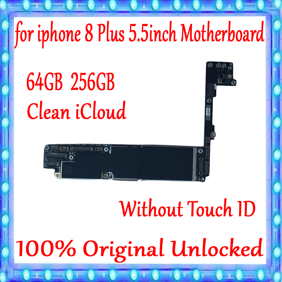 Original unlocked for <font><b>iPhone</b></font> <font><b>8</b></font> Plus <font><b>Motherboard</b></font> without <font><b>Touch</b></font> <font><b>ID</b></font>,for <font><b>iphone</b></font> <font><b>8</b></font> Plus Logic board <font><b>with</b></font> Clean iCloud,Good Working image