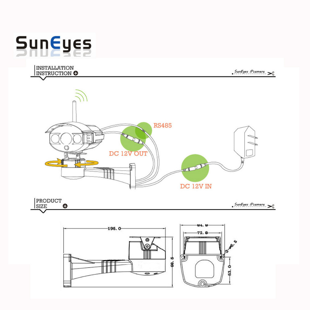 Buy Suneyes Cctv Bracket Ptz Electrical Rotating 12v Wiring Diagram Rs485 Connection Waterproof Outdoor Pan Tilt Rotation Motor Built In From Reliable
