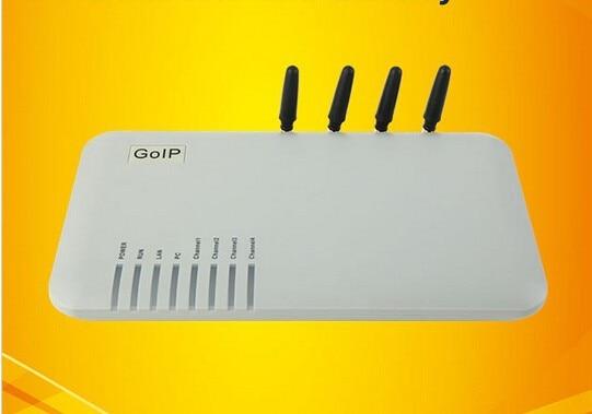 5 pcs/lot GOIP-4 quadri-bande 4 canaux VoIP GSM passerelle réseau GSM et réseau VoIP goip4 protocoles SIP et H.323 intégrés