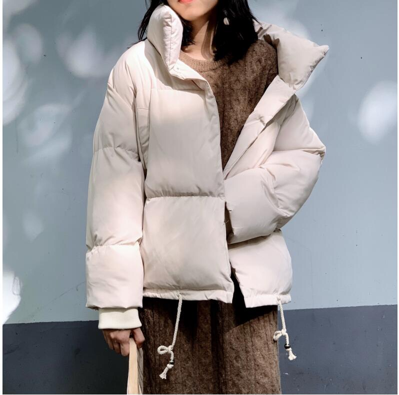 Women Snow Winter Solid Warm Loose   Parkas   E1023-008