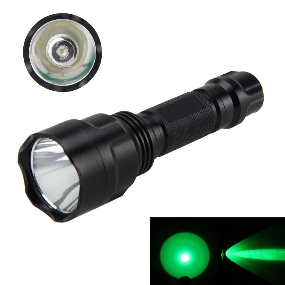 Tactical 5000Lm Q5 LED Verde Torcia Elettrica di Caccia Luce Della Torcia-Mode Luce Lampade da 18650 Batteria