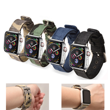 CRESTED Sport Nylon strap for apple watch 4 44mm 40mm iwatch band 42 mm 38mm watchband  bracelet 3 2 1 Accessories