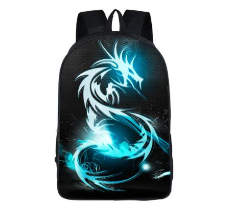 16 inch Dinosaur Magic Dragon Backpack For Teenager Animals Backpacks Kids Schoolbags Boys School Bags Daily Backpack