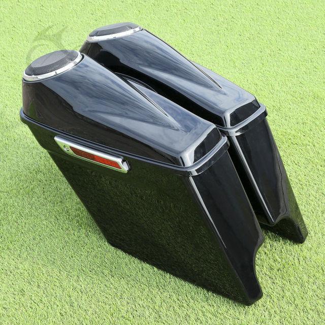 "6 1/2"" Speaker Extended Stretched Saddlebag For Harley Touring Road Glide Road King FLHR FLHT 14-18"