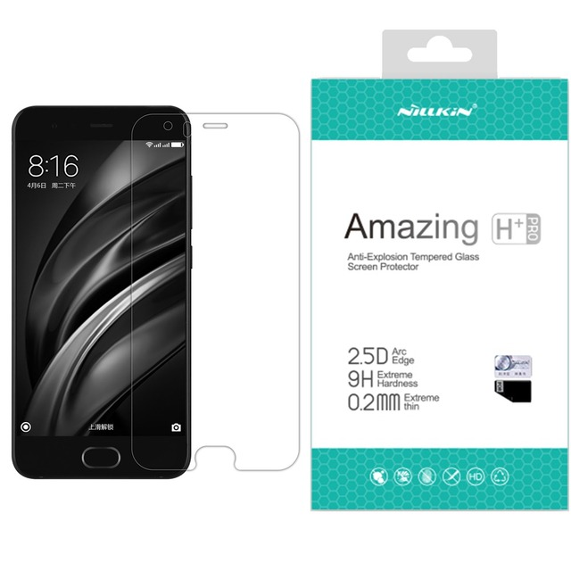 for Xiaomi mi6 glass screen protector Nillkin tempered glass screen protector for xiaomi mi6 mi 6
