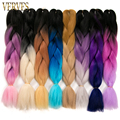 three tone 5pcs ombre kanekalon braiding hair 24'' beautiful braiding hair kanekalon jumbo braid hair extensions synthetic hair