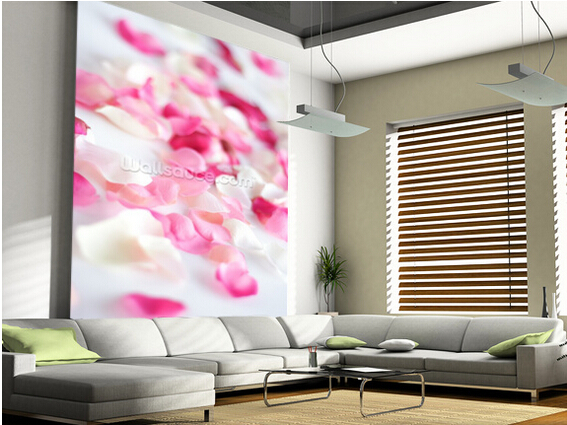 Custom modern wallpaper, Rose Petals. 3D Wall murals for living room ...