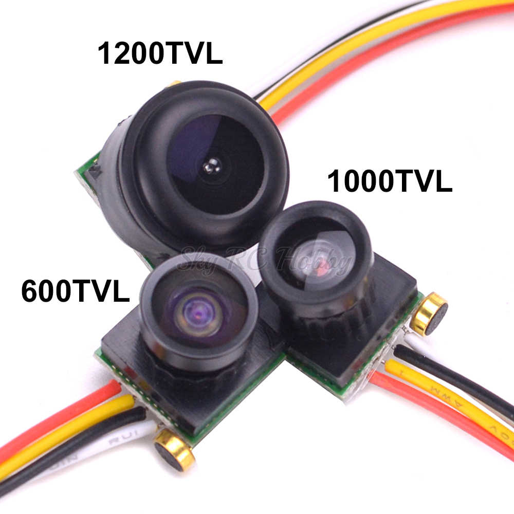 1 piezas Micro 600TVL 170 grado 1,8mm/1000TVL 90 grado/1200TVL 150 Grado de Video de Color Mini FPV cámara con Audio PAL para Dron
