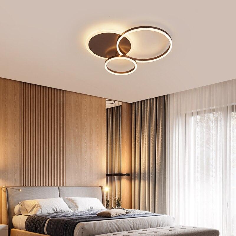 Yanghang acrílico moderno led luzes de teto para sala estar quarto plafon led casa iluminação da lâmpada do teto luminárias - 4