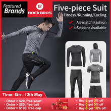 1ad1bbad ROCKBROS Men's Sport Suits Running Sets Quick Dry Sweat-absorbent Sports  Joggers Training Gym Fitness