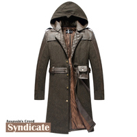[STOCK]High Quality!Game Assassin's Creed Syndicate Hoodie Jacket Winter Coat Trench Halloween Cosplay Costumes for Women/Men
