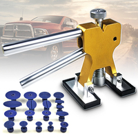 19Pcs Golden Car Paintless Dent Repair Tools Auto Lifter Removal Auto Body PDR Tools Not Damage