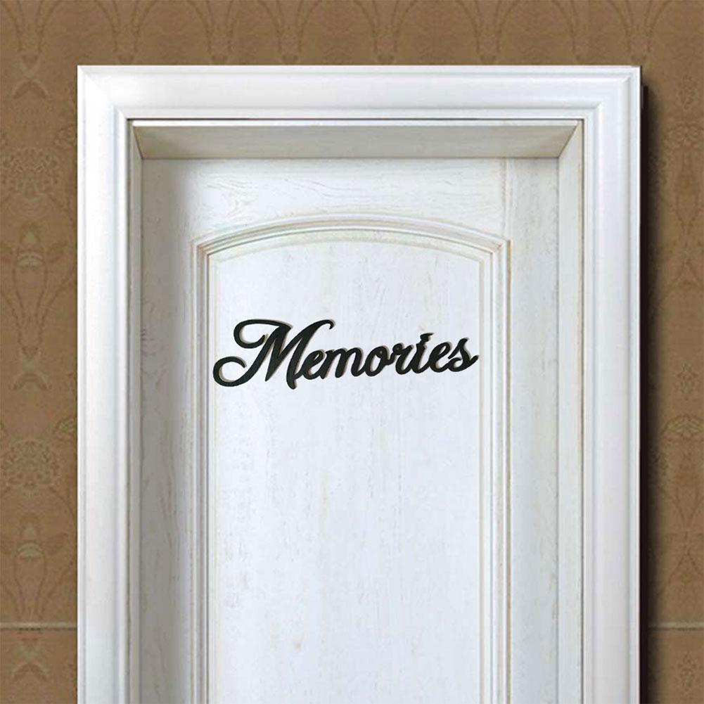 Hot Modern Black Wooden Memories English Word Sign Wall Art Home