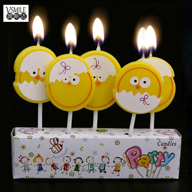 5pcs Cute Yellow Egg Chicken Butterfly Mushroom Birthday Hat Art