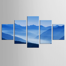 5 pieces/set Blue sky fog filled the hills Wall Art Painting Pictures Print On Canvas Art for Wall Decor Painting wppwdxen photography flowers under the blue sky print art
