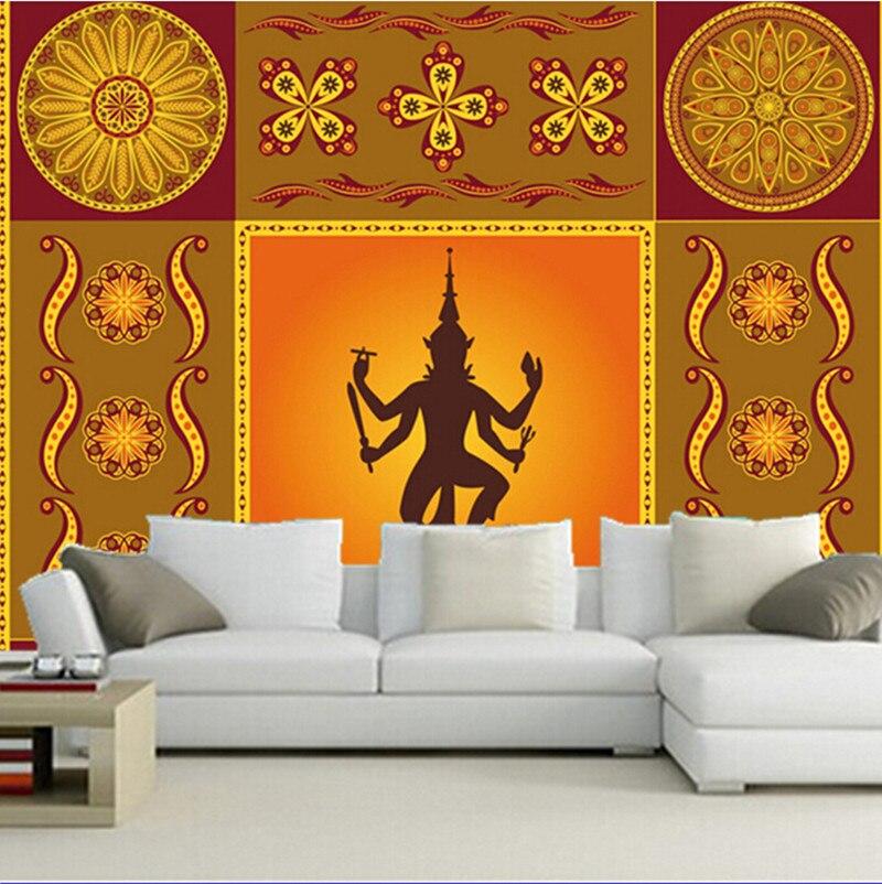 Custom 3D large mural,Classical India decorative pattern ...