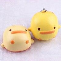 5pcs Soft Cute Little Yellow Duck Cellphone Charm Strap Chain Bag Toy Portable PU Foam Cartoon Simulation Phone Pendant Ornament