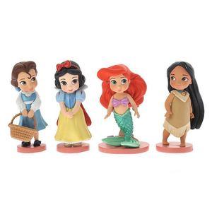 Image 2 - 11pcs 8 10 ซม.น่ารักเจ้าหญิงหิมะสีขาว & Belle & Rapunzel & Ariel ตัวเลขการกระทำตุ๊กตาตุ๊กตา