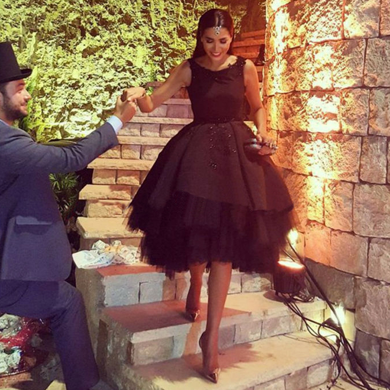 2016 Haute Couture Fashion Formal Black Ball Gowns Sequin Appliques ...