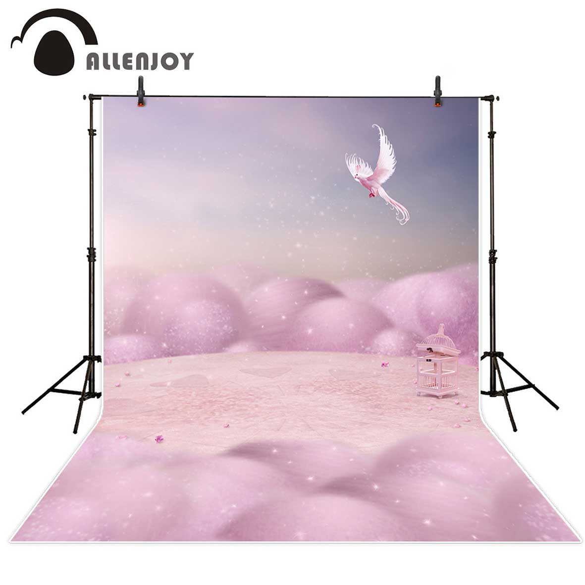 Allenjoy photography Bird cage pink fairytale wonderland Photo studio funds for a photo shoot photography backdrops shoot bird