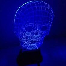 THGS USB 3D LED Table Lamp Night Light s room Night Light Christmas Gift NEW Skull