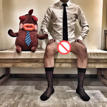 Men Silk Socks Gay Sexy Sheer Sock Formal Suit Socks Dress 4 Colors Availbale 1 Pc Retail Free Shipping