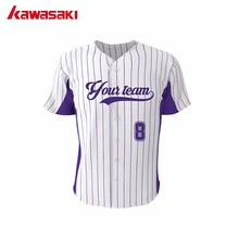 kawasaki Brand Fans Baseball Jersey Top Mens & Women Full Buttons Stripes Style Plus Size Custom Youth Softball Shirt Jerseys
