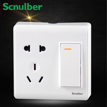 1 gang 2 way Two poles and earthing contact Socket outlet with Shutter Surface type electric wall switch socket 220v