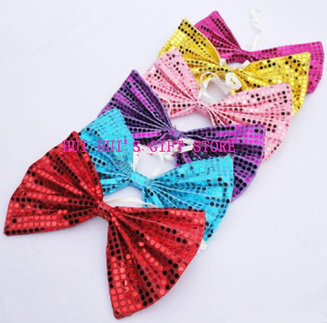 Free shipping ,Large party bow tie 28cm*20cm ,adult tie,material : sequin cloth,many colours,20pcs/lot