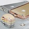 Высокое качество Роскошный Кристалл Горного Хрусталя Корона Диаманта Bling Алюминиевый Бампер Металла Case Cover For Apple iphone 6 & 6 Plus 5 5s