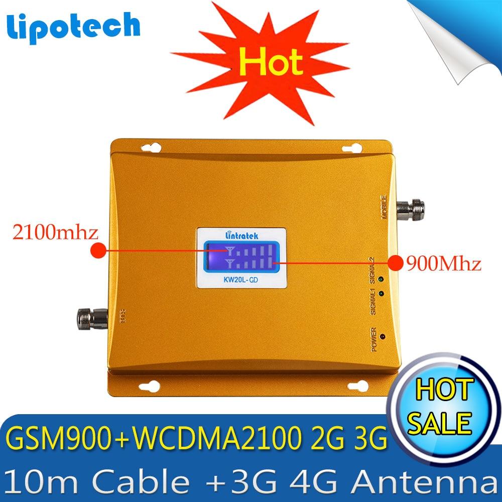 Lintratek GSM 3G Penguat Sinyal Seluler GSM 900 3G UMTS 2100 Dual - Aksesori dan suku cadang ponsel - Foto 2