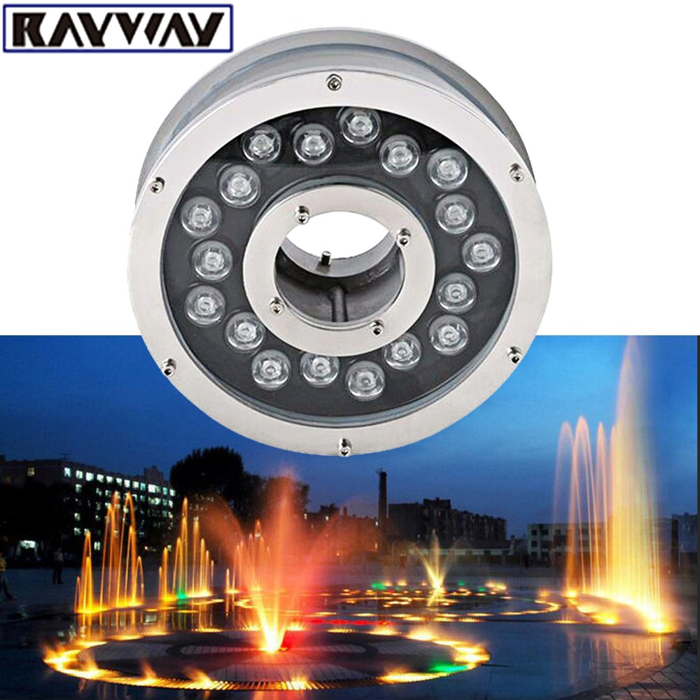 2pcs 6W 12W 18W Aluminum LED fountain Lamp IP68 White RGB Underwater Swimming Pool light AC/DC 12V-24V Pond Decorative Lighting цена