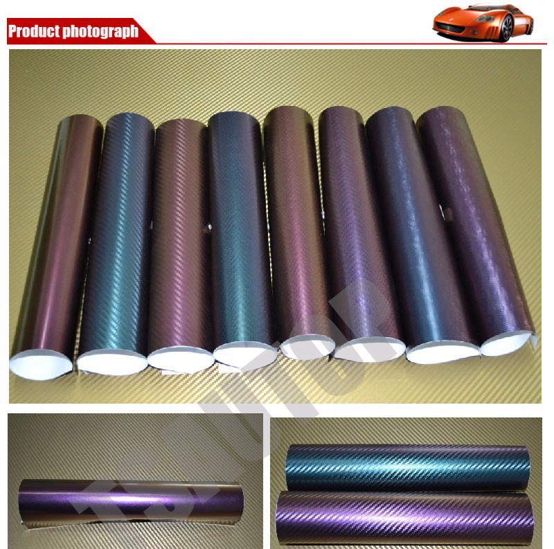 1,52X20 м пузыри без воздуха 3 цвета глянцевый Хамелеон автомобильная пленка виниловая сине-фиолетовая
