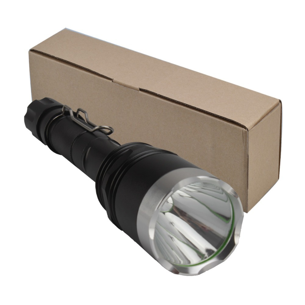 SingFire SF-714 1000lm 5-Mode White Tactical LED Flashlight w/ Cree XM-L T6 - Black + Silver (2 x 18650) singfire sf 87 600lm 5 mode white flashlight w cree xm l t6 black silver 1 x 18650