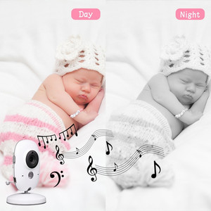 Image 4 - VB603 Video Baby Monitor 2.4G Wireless with 3.2 Inches LCD 2 Way Audio Talk Night Vision Surveillance Security Camera Babysitter