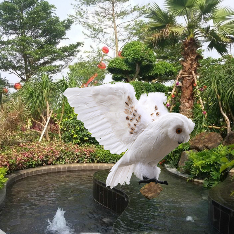 big creative simulation owl toy foam&furs wings owl model doll gift about 32x45cm huge creative simulation wings seagull toy plastic