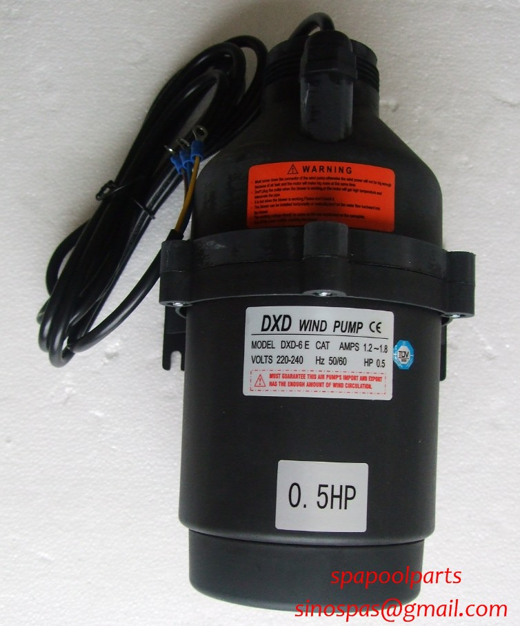 DXD-6 E CAT AMPS 1.2-1.8 0.5HP air pump for for spa & bathtub bubbling with CE, TUV, ROhs Certified