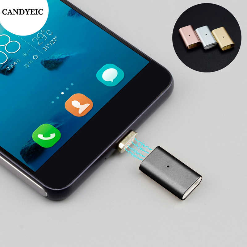 CANDYEIC Micro USB 2.0 Magnetic Adapter For Android Huawei USB Cable, Magnetic Charger For Redmi LG Moto Xiaomi HONOR Charging