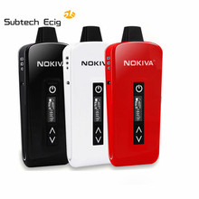 Electronic cigarette Nokiva Dry Herb Vaporizer ceramic heating  Temperature Control 2200mAh with OLED screen e cig kit