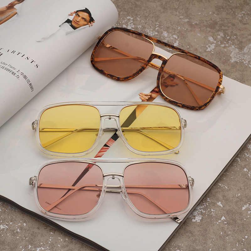 2018 splov негабаритных квадратные Солнцезащитные очки для женщин Для мужчин